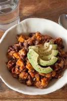 Vegetarian - Vegetarian Chili In Sweet Potato Boats