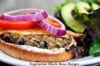 Vegetarian - 2 Bean Burger