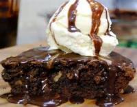 Pies - Chocolate -  Brownie Pie à La Mode