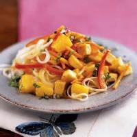 Vegetarian - Tofu -  Curried Noodles With Tofu