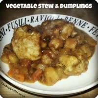 Vegetarian - Vegetable Stew With Dumplings