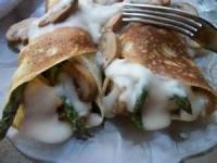 Poultry - Chicken -  Chicken Crepes With Asparagus And Mushrooms