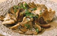 Poultry - Chicken With Wild Mushroom Cream Sauce