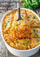 Poultry - Chicken Casserole -  Chicken Enchilada Casserole