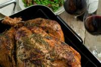 Poultry - Roast Chicken With Orange Rice Stuffing And Citrus Sauce