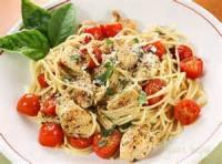Poultry - Tomato-basil Linguine And Chicken