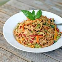 Poultry - Noodle Salad With Spicy Peanut Sauce