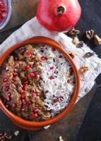 Poultry - Chicken Stew -  Pomegranate Stew (koresh-e Fesenjan)