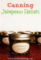 Preserving - Relish -  Jalapeno Relish