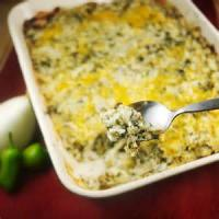 Rice - Green Chile Cheese And Rice Bake