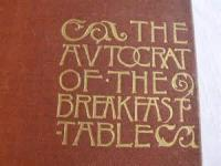 The Autocrat Of The Breakfast Table - Chapter I