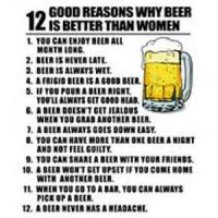 Why Beer Is Better Than Women