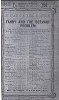 Fanny And The Servant Problem - The Characters