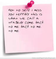 I Miss You Terribly This Day  of Love